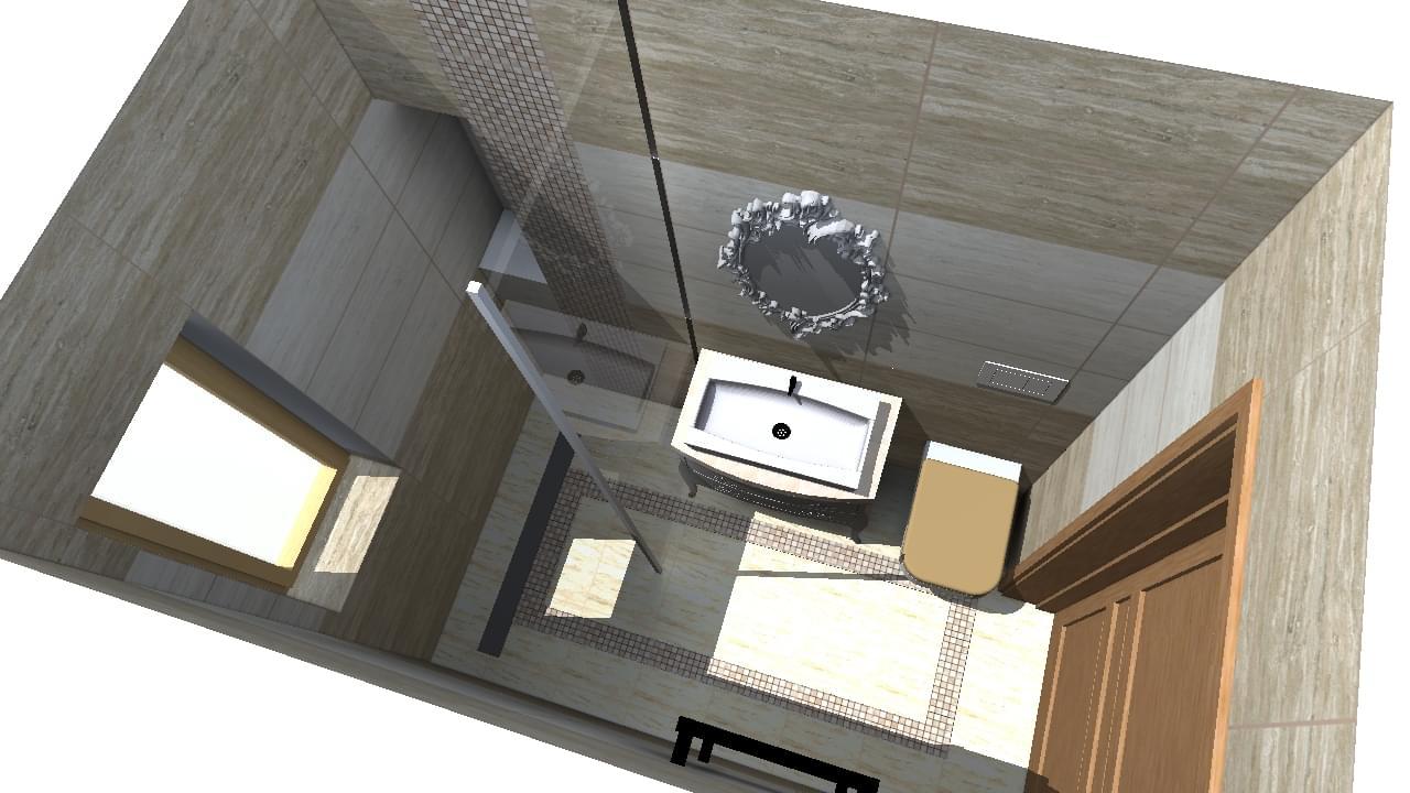 Mała Lazienka Z Kabina Walk In Projektowanie Wnętrz
