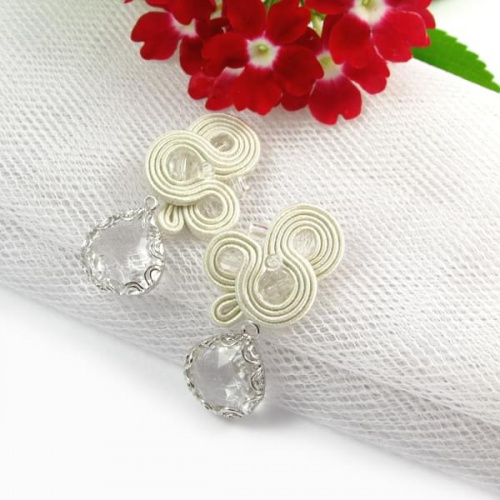 Soutache bridal jewelry