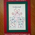 Three Presents - stitchingcards.com #fantagiro7 #HaftMatematyczny #ObrazkiZSzyciaWzięte