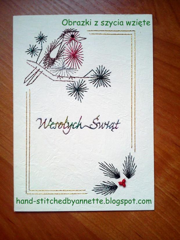 Christmas Borders 5 - stitchingcards.com #fantagiro7 #HaftMatematyczny #ObrazkiZSzyciaWzięte