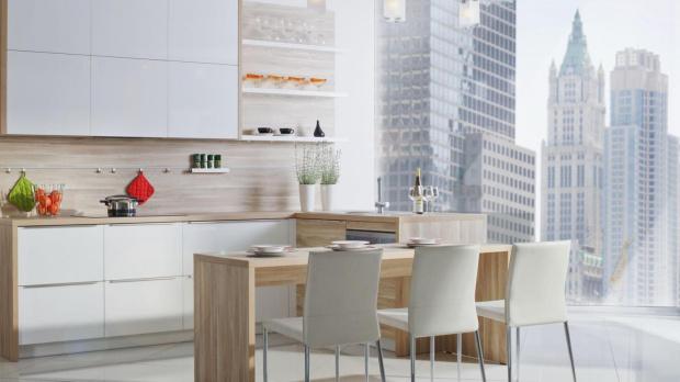 Salon z aneksem  dwa pomysły na aranżację Który wybrać?  Projektowanie wnę   -> Salon Kuchnie Rust