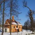 Nasz kościółek w zimowej szacie #kościół #zabytek #wieś #DrewnianeBudowle
