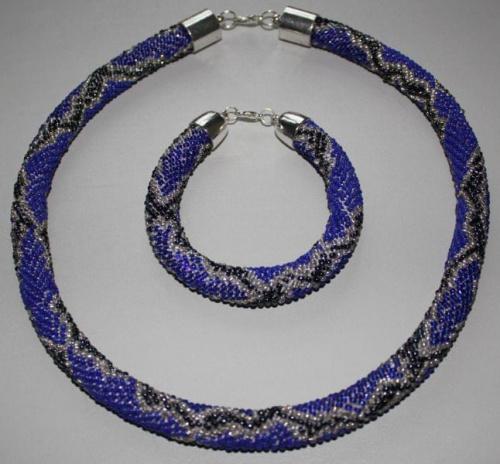 sznur koralikowo-szydełkowy