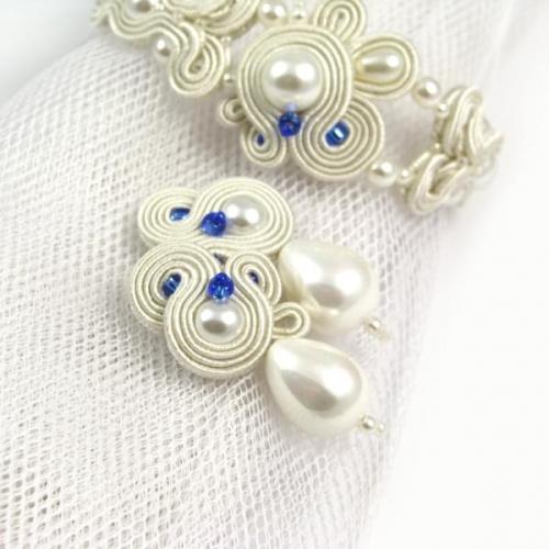 Kolczyki ślubne z perłami