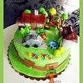 Tort Makieta Podwórka #tort #TortyKraków #podwórko #dom #samochód #TortyWalentynki