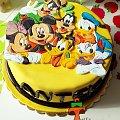 """Tort """"Klub przyjaciół Myszki Mickey"""" #KlubPrzyjaciółMyszkiMickey #tort #TortyArtystyczne #TortyKraków #TortyWalentynki"""