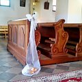 Kościół Dąbrowa Zielona #KościółDąbrowaZielona #Wesele #Ślub #dekoracje