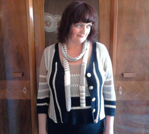 na człowieku:) #AlizeLino #druty #len #sweterek #top #wiskoza
